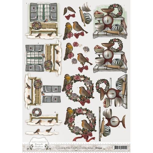 3D Knipvel - Amy Design - Brocante Christmas - Wreath