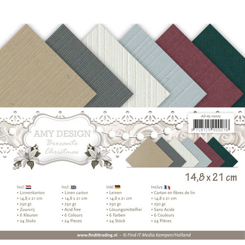 Linnenpakket - A5- Amy Design - Brocante Christmas