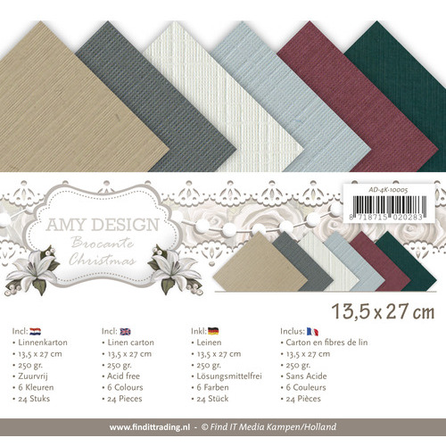 Linnenpakket - 4K- Amy Design - Brocante Christmas