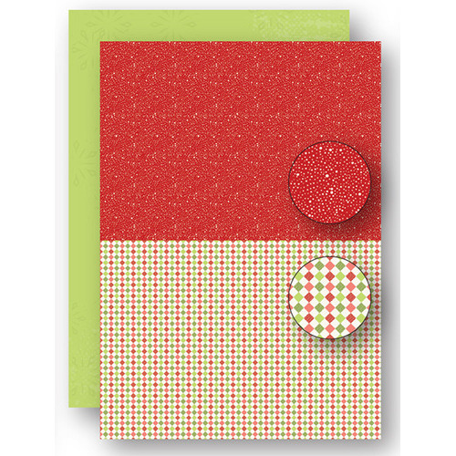 Background sheets doublesided Christmas red dots