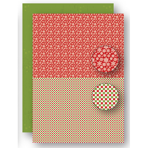 Background sheets doublesided Christmas red snowflakes