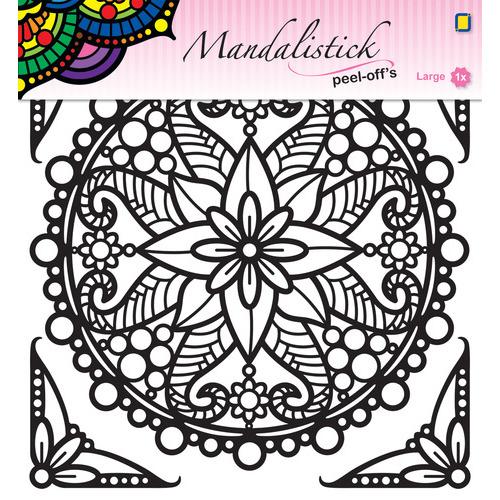 Mandalistick Peel-off`s large 3 - Black