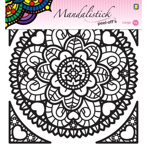Mandalistick Peel-off`s large 1 - Black