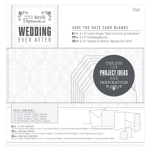Save The Date Card Blanks (25pk) - Wedding - Damask