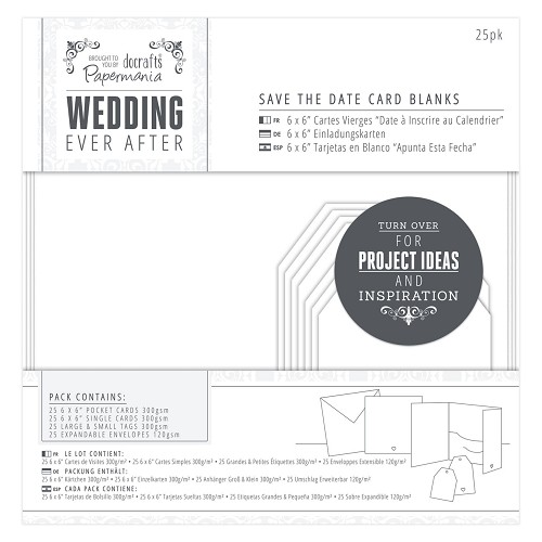 Save The Date Card Blanks (25pk) - Wedding - White Heart