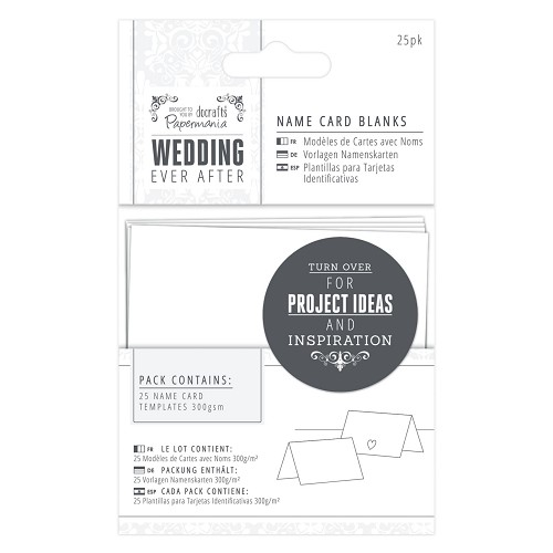 Name Card Blanks (25pk) - Wedding - White Heart