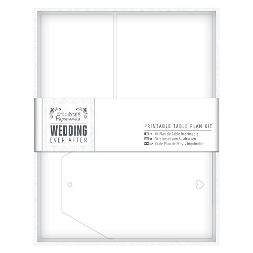 Printable Table Plan Kit - Wedding - White Heart