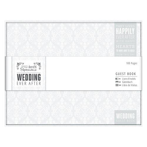 Guest Book - Wedding - Grey/White