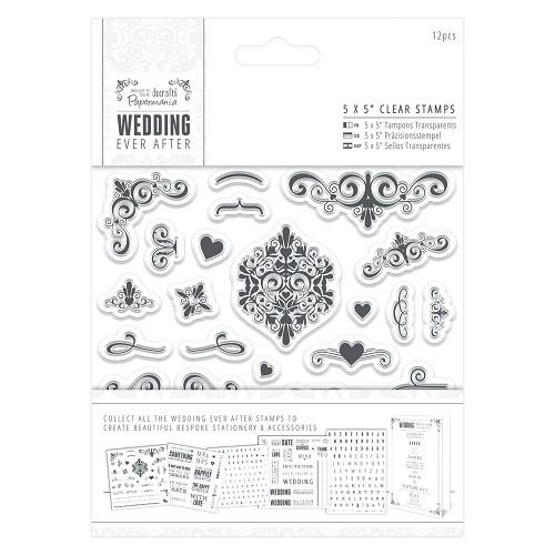 5 x 5 Clear Stamps - Flourishes