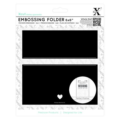 6 x 6 Embossing Folder - Banner