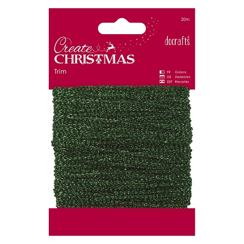 Sparkly Trim (20m) - Green