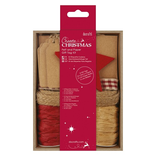 Felt and Paper Gift Tag Kit - Red