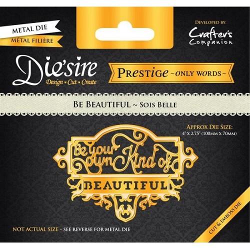 Die`sire Prestige Alleen Woorden - Be Beautiful van Crafter`s Companion