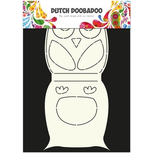 Dutch Doobadoo Dutch Card Art Stencil uil A4 470.713.584 (new 08-2015)