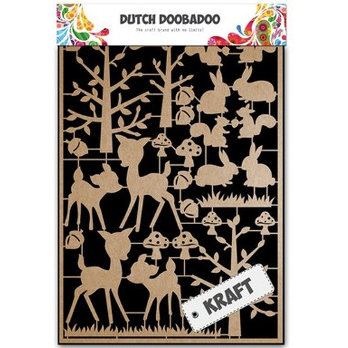 Dutch Doobadoo Dutch Paper Art Kraft - bosdieren A5 479.002.011 (new 08-2015)