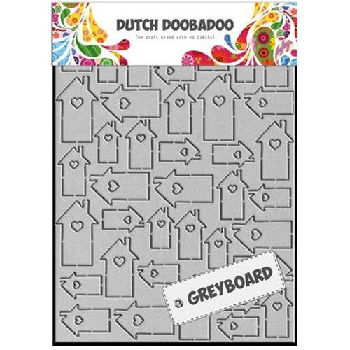 Dutch Doobadoo Dutch Greyboard huizen A5 492.006.001 (new 08-2015)