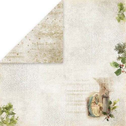 Silent Night Scrapbooking single paper 12x12