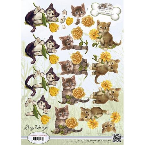 3D Knipvel - Amy Design - Animal Medley - Kittens