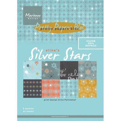 Marianne D Paper pad Eline`s Silver Star PB7048 (New 09-15)