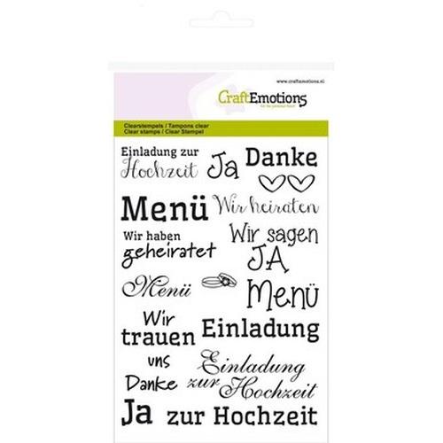 CraftEmotions clearstamps A6 - tekst DE Hochzeit