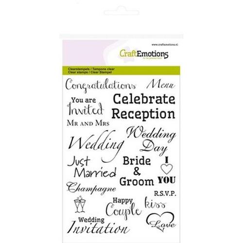 CraftEmotions clearstamps A6 - tekst EN Wedding