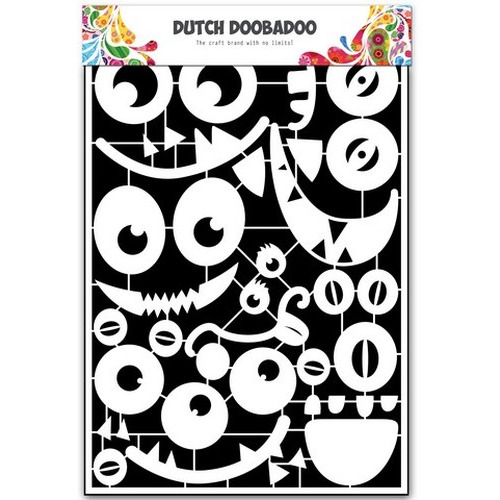 Dutch Doobadoo Dutch Paper Art monsters faces A5 472.948.033 (new 09-2015)
