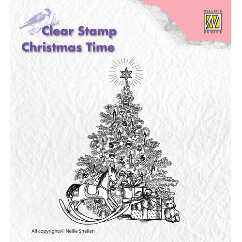 Clear Stamps - Christmas time - Christmas tree with gifts