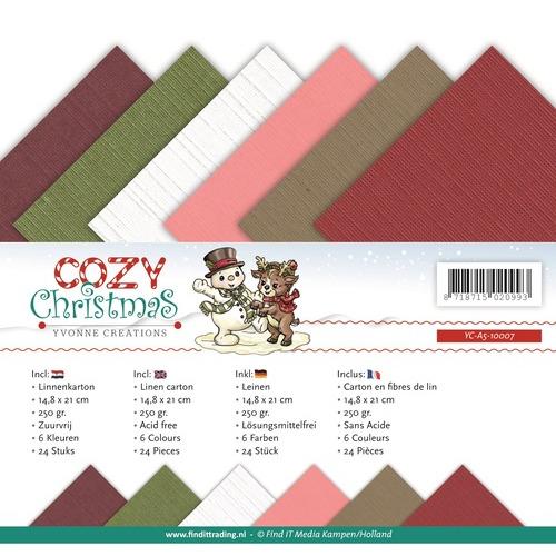 Linnenpakket - A5 - Yvonne Creations - Cozy Christmas