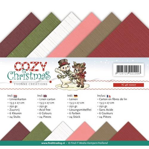Linnenpakket - 4K - Yvonne Creations - Cozy Christmas