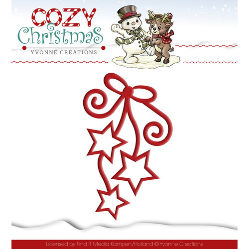 Die - Yvonne Creations - Cozy Christmas - Hanging Stars