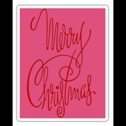 Sizzix® Texture Fades™ Embossing Folder - Fancy Christmas 660998 Tim Holtz - (new 09-15)