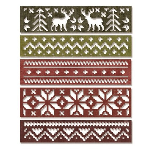 Sizzix® Thinlits™ Die Set 2PK - Snowfall & Holiday Knit 660981 Tim Holtz - (new 09-15)