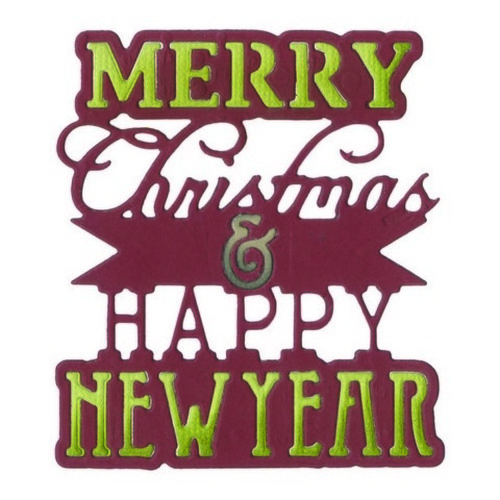 Sizzix® Thinlits™ Die - Phrase, Merry Christmas&Happy NewYear 660662 Winter Wishes  (09-15)