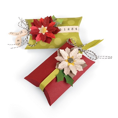 Sizzix® Thinlits™ Die Set 7PK - Box, Pillow & Poinsettias 660660 Winter Wishes  (09-15)