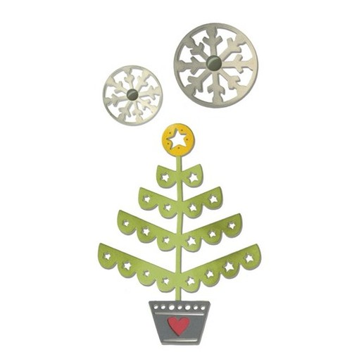 Sizzix® Thinlits™ Die Set 3PK - Christmas Tree & Snowflakes 660726 Festive Paper Arts  (09-15)