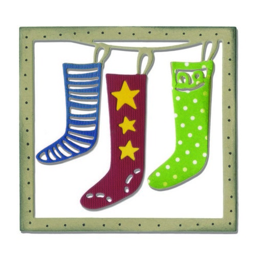 Sizzix® Thinlits™ Die - Christmas Stockings 660725 Festive Paper Arts  (09-15)