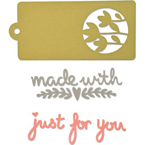 Sizzix® Thinlits™ Die Set 4PK - Tag & Phrases 660871 My Kind of Happy (09-15)