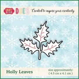 Christmas Dies Metal die Holly Leaves
