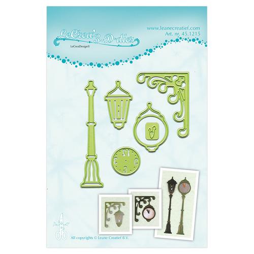 Lea'bilitie® Clock & lantern snij en embossing mal