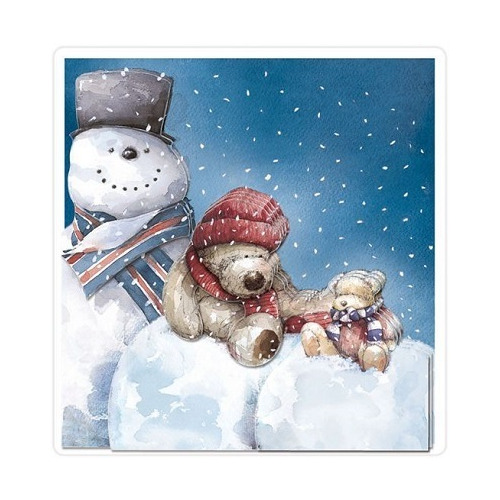 A4 Decoupage Pack - Wellington Christmas - Snowman