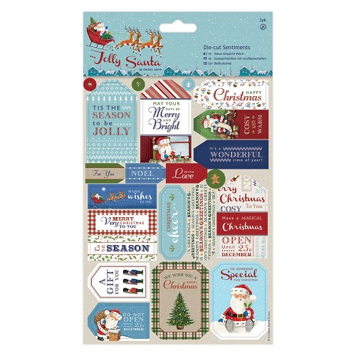 Die-cut Sentiments (2pk) - Jolly Santa