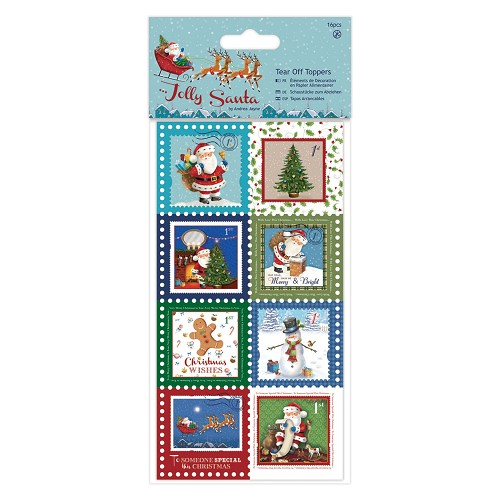 Tear Off Toppers (16pcs) - Jolly Santa