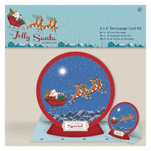 6 x 6 Decoupage Card Kit - Jolly Santa