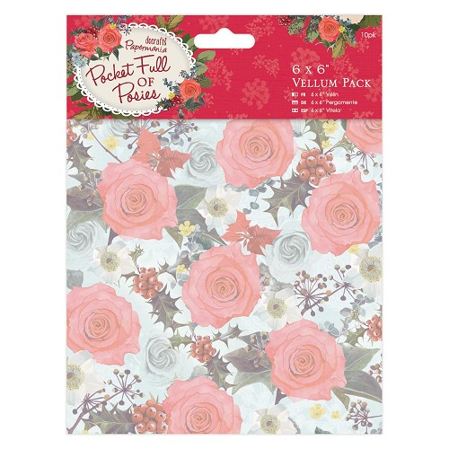 6 x 6 Vellum Pack (10pk) - Pocket Full of Posies