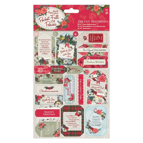 Die-cut Sentiments (2pk) - Pocket Full of Posies