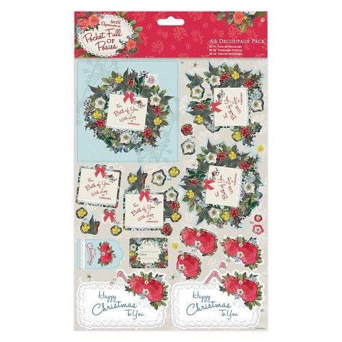 A4 Decoupage Pack - Pocket Full of Posies - For You