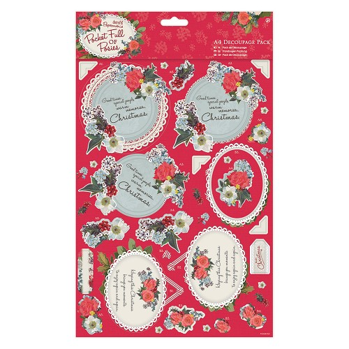 A4 Decoupage Pack - Pocket Full of Posies - Mum