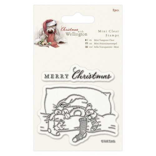 75 x 75mm Mini Clear Stamp (2pcs) - Wellington Christmas Bedtime