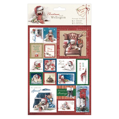 A5 Postage Stamps (32pcs) - Wellington Christmas