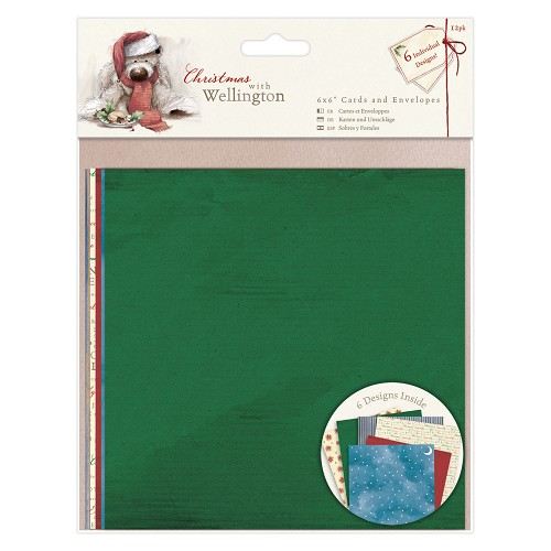 6 x 6 Cards & Envelopes (12pk) - Wellington - Christmas